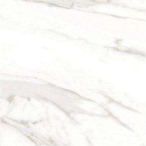 Piso de Porcelana Brillado Blanco Calacatta